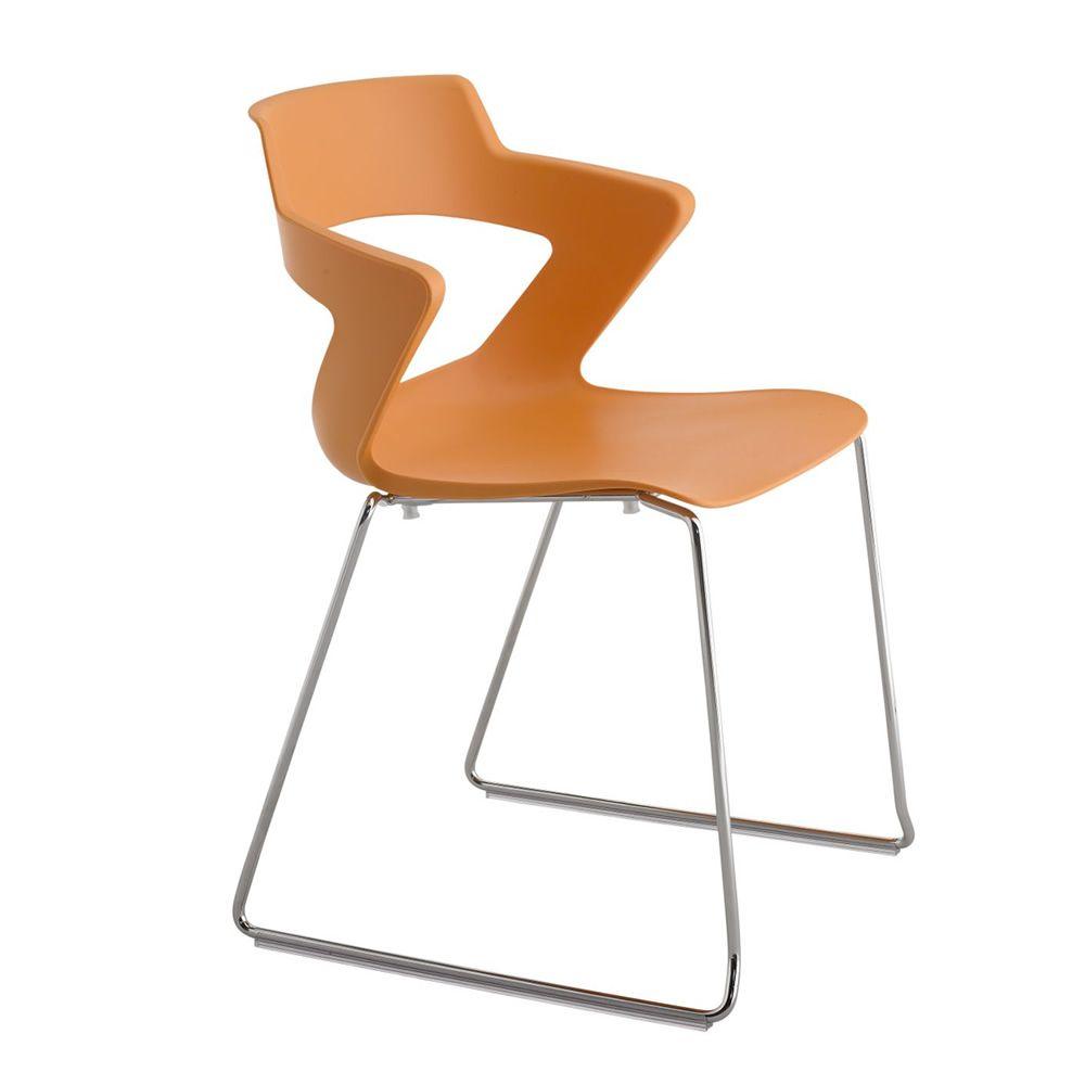 Ml168 sedia per conferenze in metallo e polipropilene impilabile diversi colori disponibili - Sedia polipropilene impilabile ...