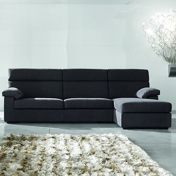 berna modernes 3 sitzer sofa mit chaise longue. Black Bedroom Furniture Sets. Home Design Ideas