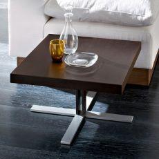 Tosca - Tavolino Domitalia in metallo con piano in legno, 60 x 60 cm o 110 x 70 cm