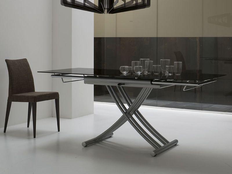 Mix tavolo midj in metallo con piano in vetro for Altezza tavolo pranzo