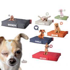 Doggielounge Small - Hundekissen, abziehbar, mit personalisiertem Namen, mit verschiedenen Bezügen und in verschiedenen Farben verfügbar, für kleine Hunde