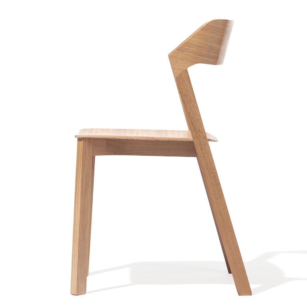 Merano chaise ton en ch ne rouvre empilable sediarreda for Chaise en chene