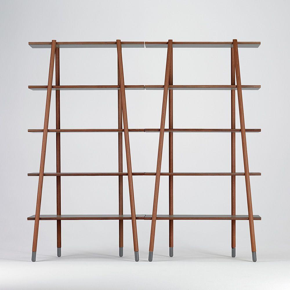 stick l biblioth que valsecchi en bois et tag res en. Black Bedroom Furniture Sets. Home Design Ideas