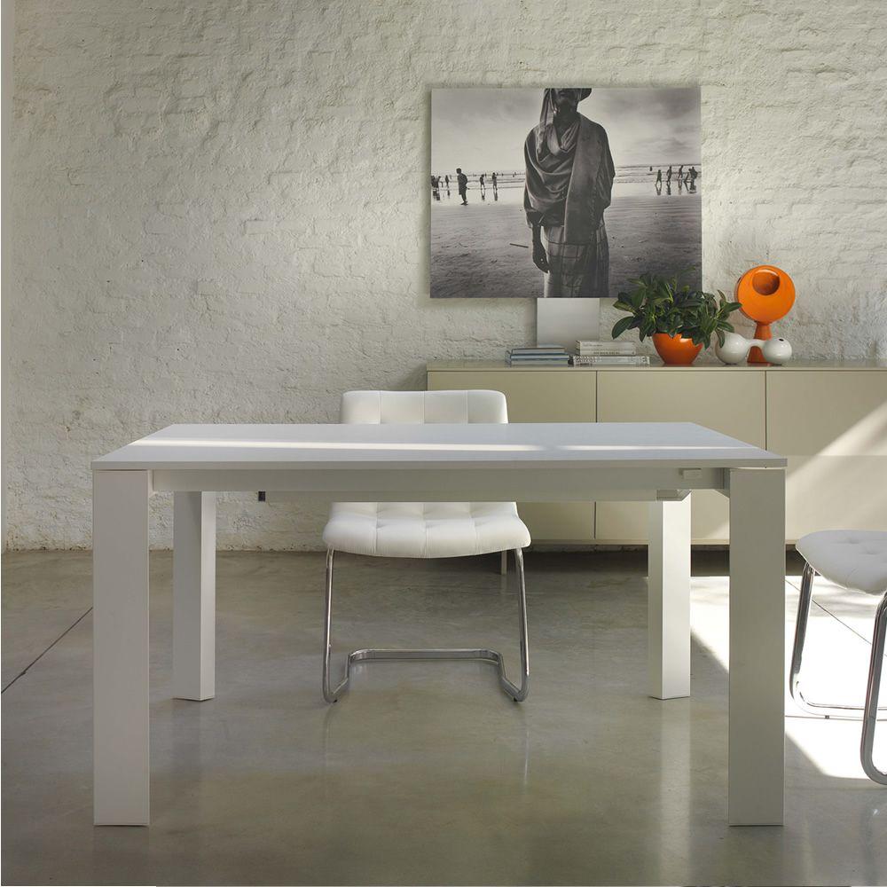 Pascal tavolo di design bontempi casa in metallo con for Consolle allungabile laccata bianca