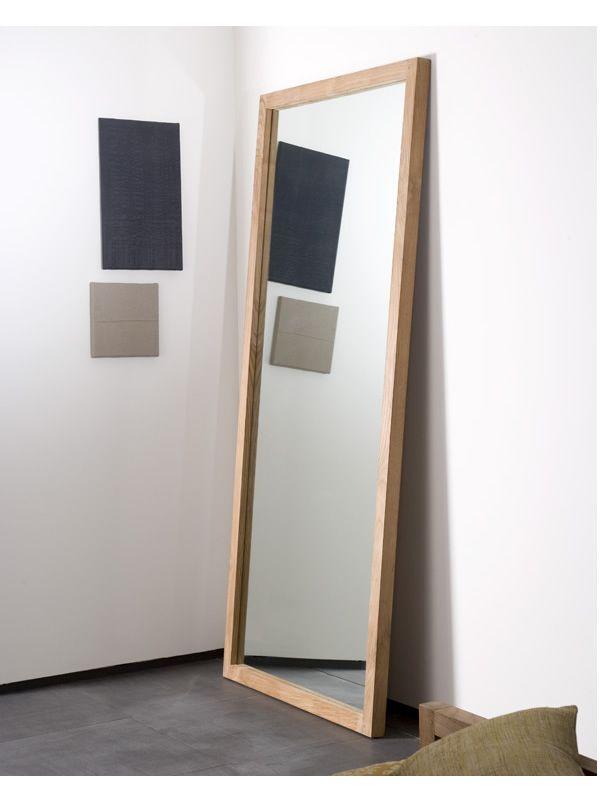 Lf specchio ethnicraft con cornice in legno diverse altezze disponibili sediarreda - Specchio con cornice ...