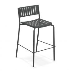 Bridge S - Emu stool made of metal, for garden, stackable, several colours, seat's height 75 cm