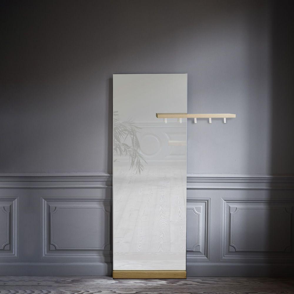 Shift floor specchio con appendiabiti e mensola in legno - Specchio da camera ...