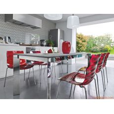 CB4010 180 Baron - Connubia - Calligaris metal table, different tops available, 180 x 100 cm extendable