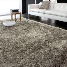 7104 Downy - Alfombra Calligaris de rayón y algodón, color gris tórtola, 170 x 240 cms