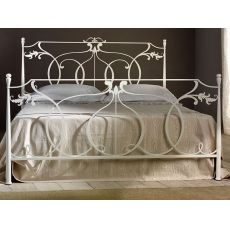 Concerto - Double bed in iron with decorations, several colours available