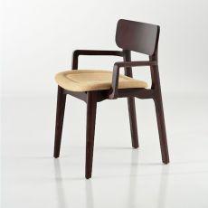 Cacao Soft - Sedia di design Chairs&More, in legno con seduta imbottita, disponibile in diversi colori, con o senza braccioli