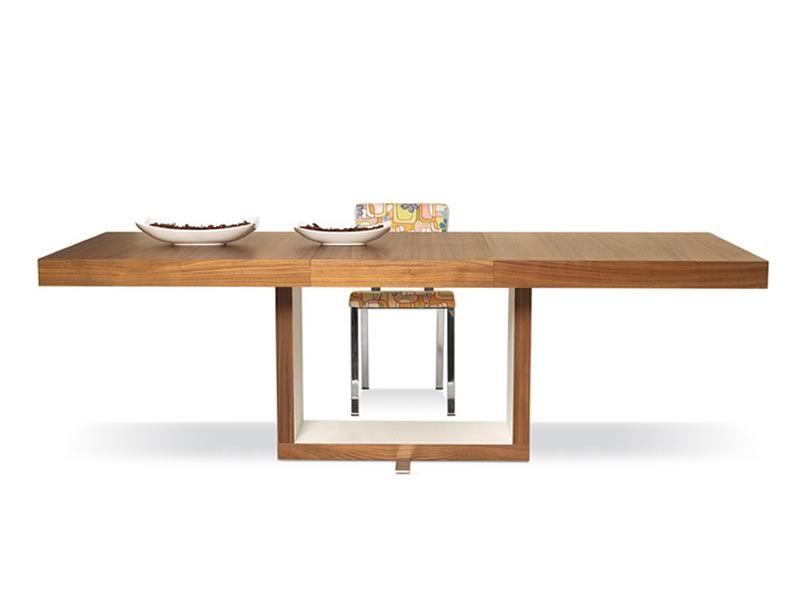 Todol: Tavolo moderno in faggio o rovere, 160x90 cm allungabile - Sediarreda