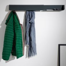 Dock - B-Line coat hanger and wall-mounted tray, in metal, available in different colours