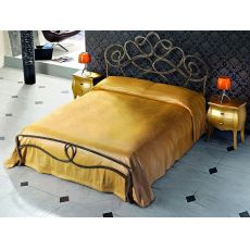 Arabesco - Double bed in wrought-iron, several colours available