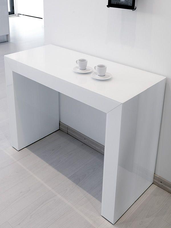 Glass console en mdf mesurant 100 x 43 cm extensible sediarreda - Glas konsolentisch ...