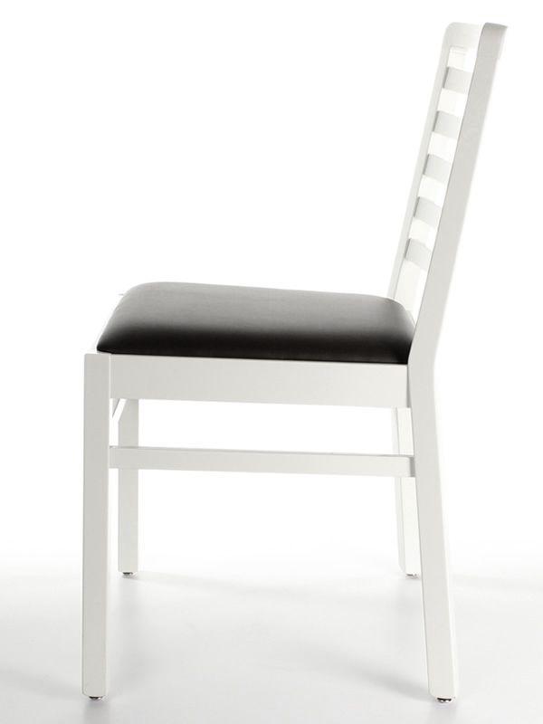 mu62 moderner holzstuhl mit gepolstertem sitz in. Black Bedroom Furniture Sets. Home Design Ideas