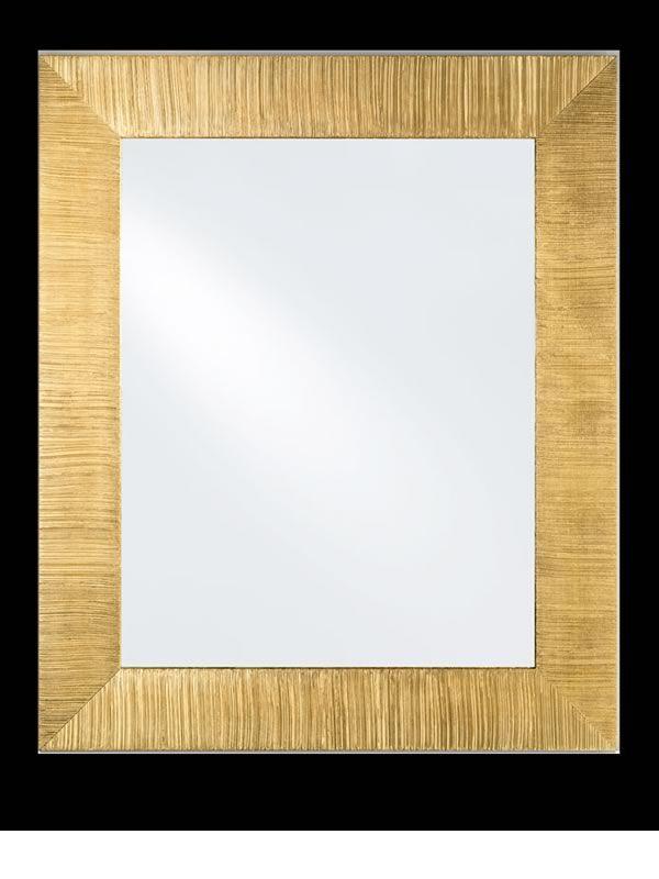 Flat specchio in legno con cornice decorata foglia argento od oro 85x102cm sediarreda - Specchio cornice oro ...