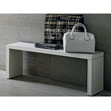 Cinquanta P - Modern bench covered with imitation leather, several colours and sizes