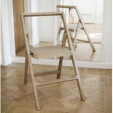 Mini Step - Sedia pieghevole in legno, diversi colori disponibili