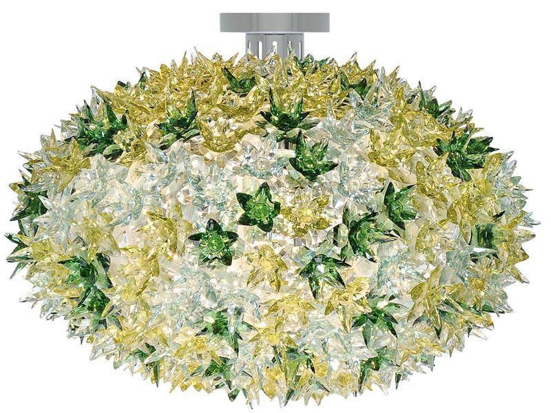 Bloom W - Lampada a soffitto Kartell in tecnopolimero, in diversi colori e mi...