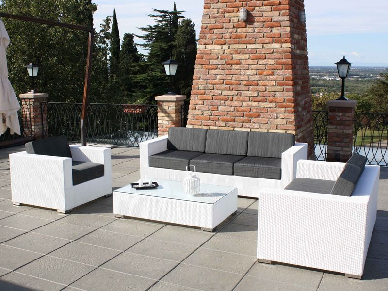 Kit esterno 11 per bar e ristoranti set per giardino per for Divani da giardino offerte
