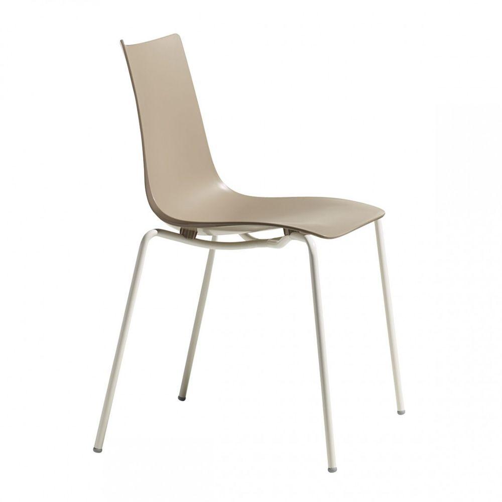 Zebra tecno 2615 chaise design en m tal et technopolym re - Chaise design couleur ...