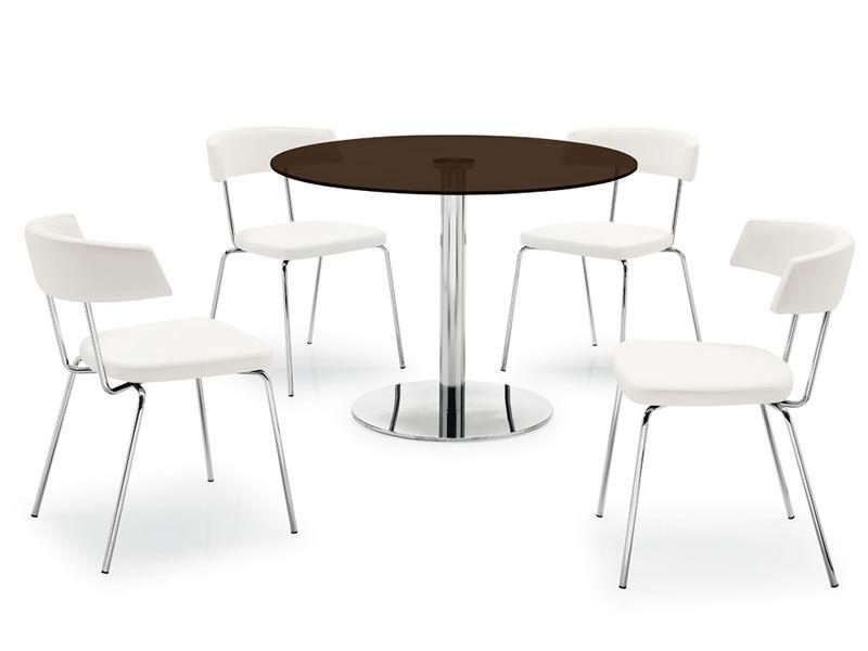Silla moderna de madera asiento y respaldo acolchados y for Sillas de madera modernas