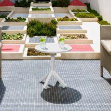 Circle - T - Tavolino in alluminio, diversi colori, anche per giardino
