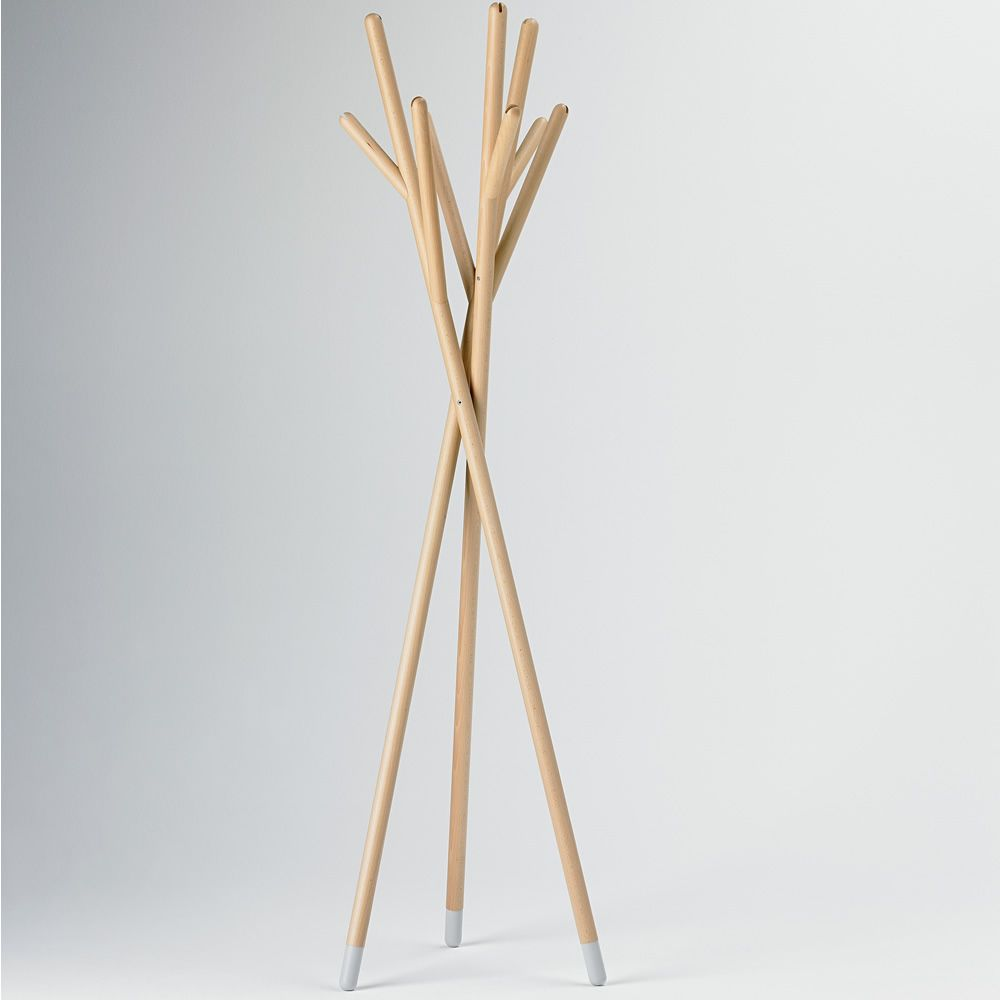 stick valsecchi design coat hanger made of wood. Black Bedroom Furniture Sets. Home Design Ideas