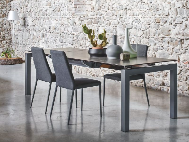 Cb4011 airport connubia calligaris metal table glass for Tavolo airport calligaris