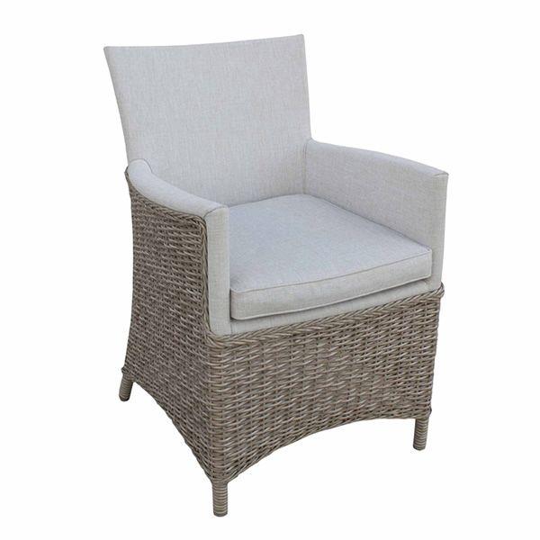 e95 fauteuil en aluminium et imitation rotin coussin et assise recouverts en tissu garanti. Black Bedroom Furniture Sets. Home Design Ideas