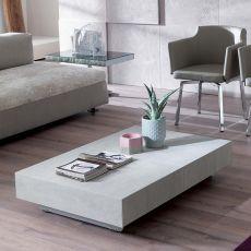 Box - Tavolo trasformabile in metallo, piano in cristallo o ceramica 120x75 cm, allungabile, disponibile in diversi colori