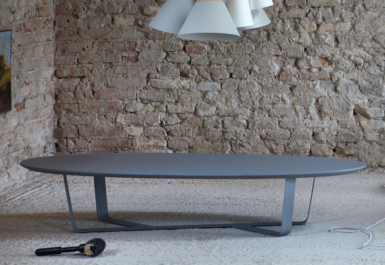 Bino tavolino miniforms in metallo con piano in mdf