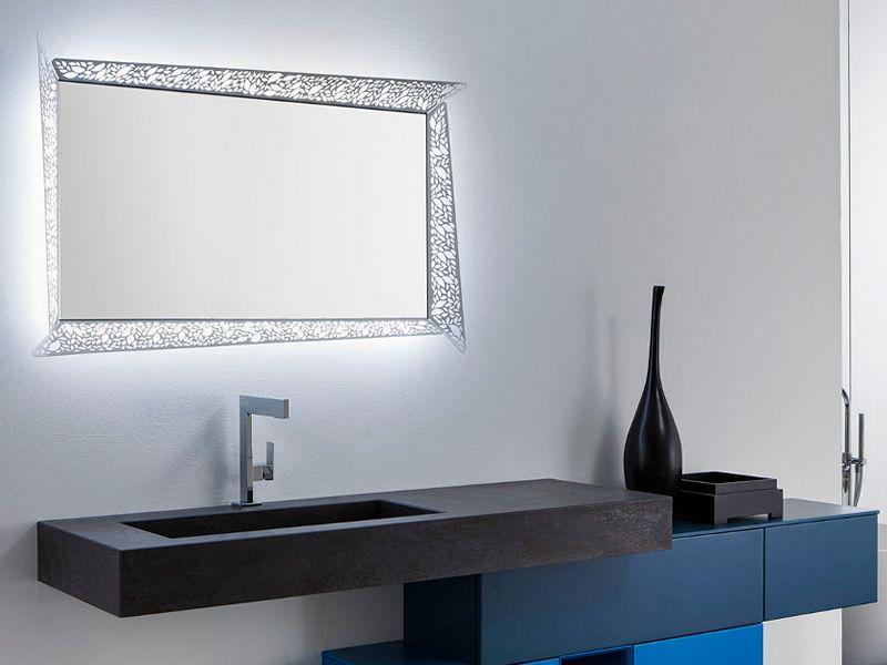 Leaf C Miroir Avec Cadre Lumineux En M Tal Led
