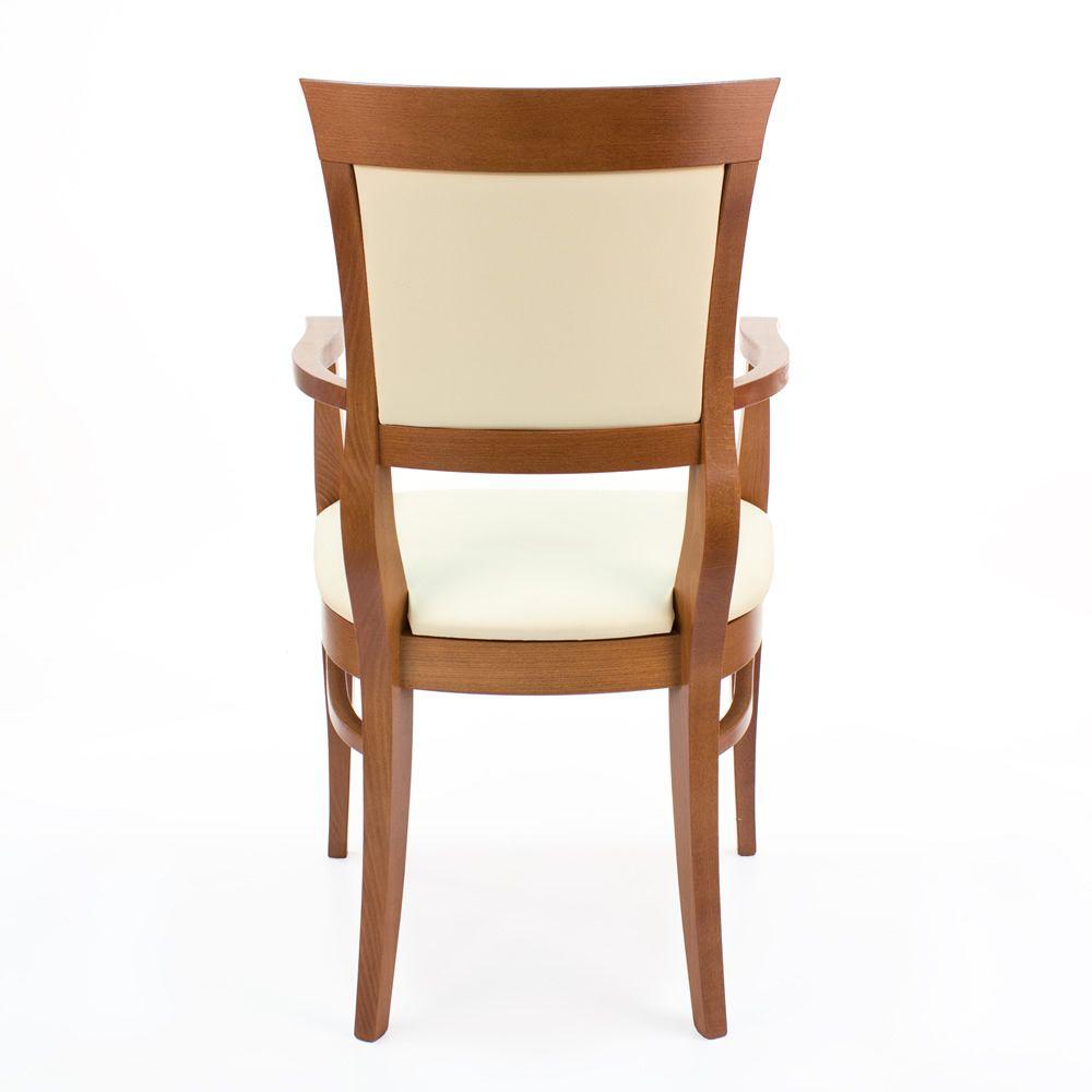 Mu43 silla cl sica en madera con reposabrazos con for Sillas tapizadas con reposabrazos