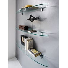 CB5066 Plana - Connubia - Calligaris modern glass shelf