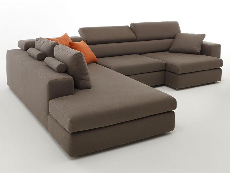 Paloma maxi divano a 3 posti mobili con chaise longue - Divano con chaise longue estraibile ...