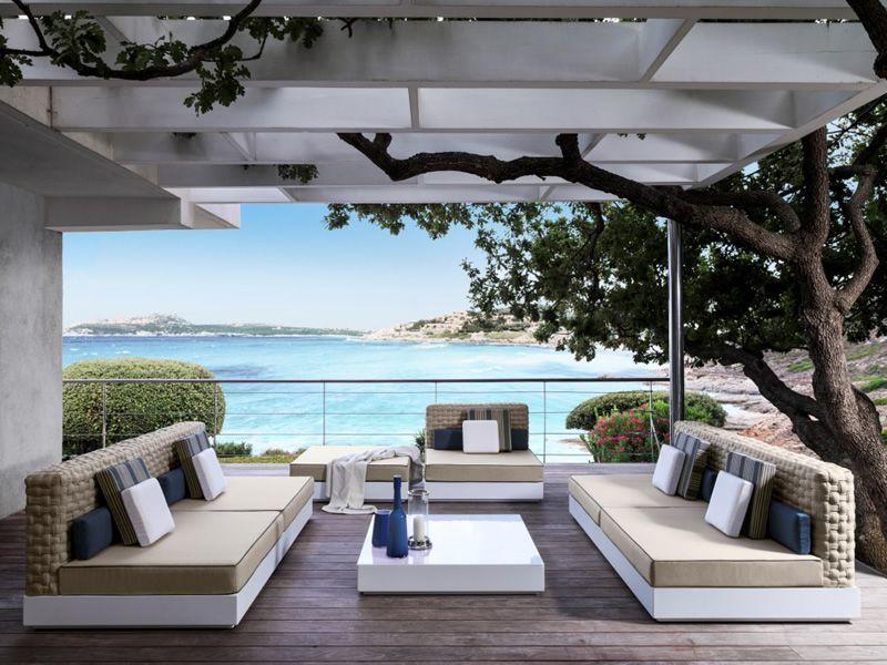 Tender divano 2 posti per esterno disponibile anche con for Divani x esterno