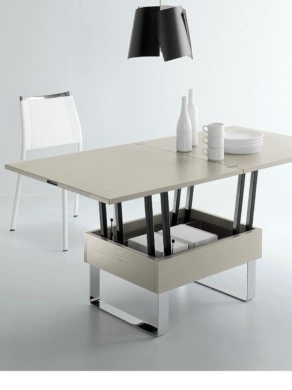 Giove tavolino trasformabile in tavolo da pranzo 80 160x80 cm altezza 41 74 cm in diversi for Tavolo da biliardo trasformabile in tavolo da pranzo