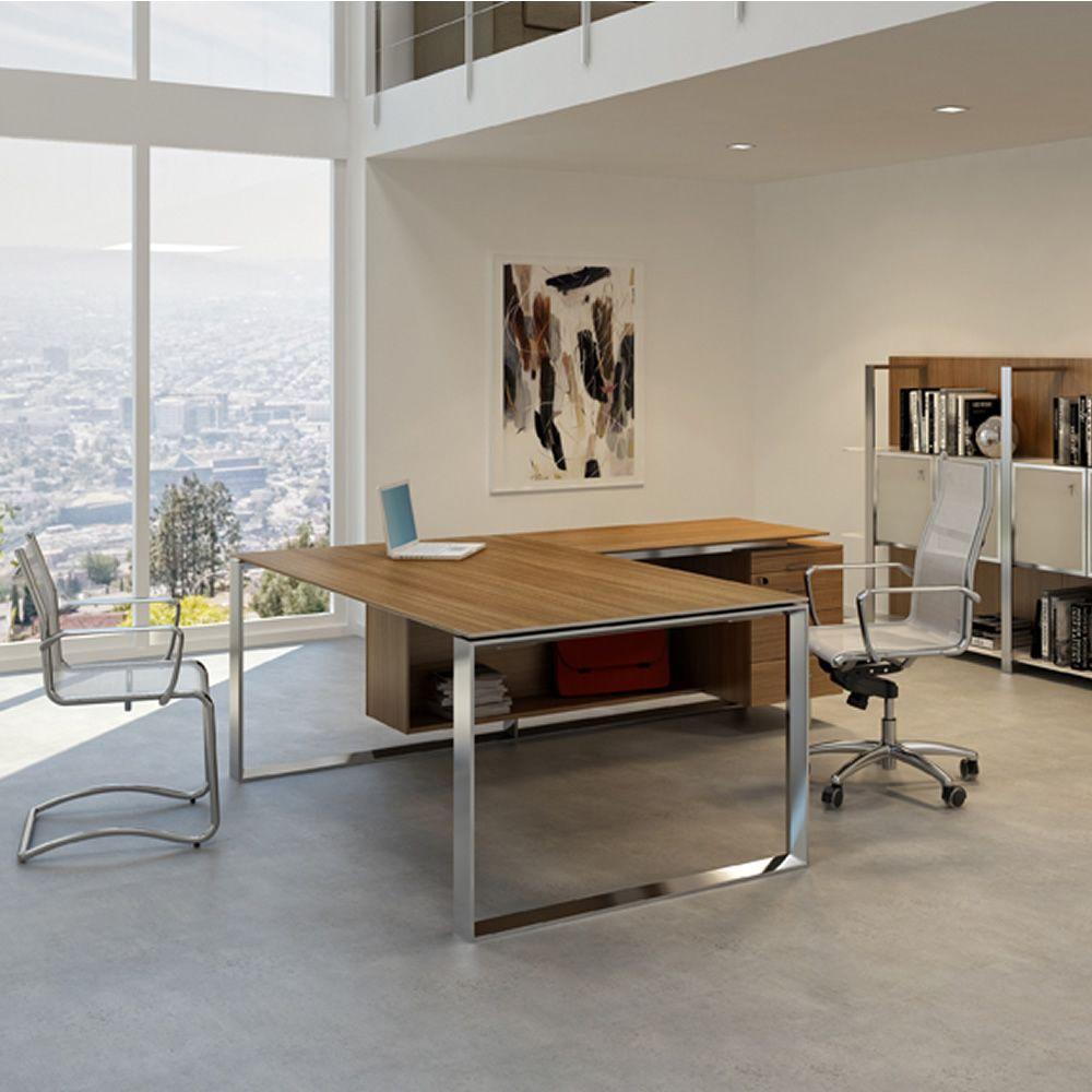 Office x7 01 scrivania direzionale per ufficio con for Scrivania direzionale