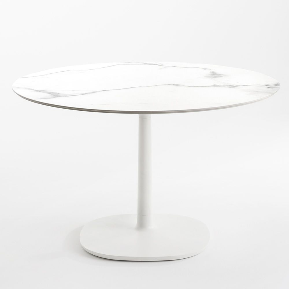 Multiplo   Table With White Marble Tile Finish
