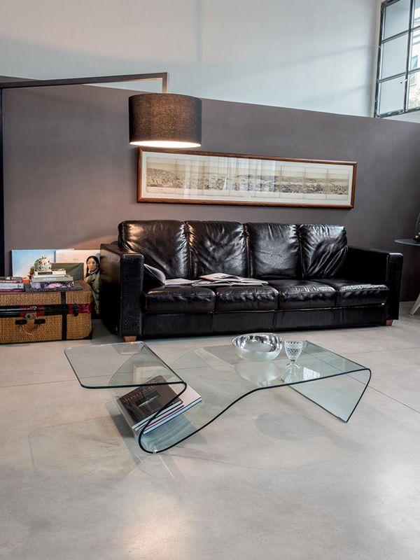 alaric 6223 designer beistelltisch tonin casa aus glas 142 x 70 cm sediarreda. Black Bedroom Furniture Sets. Home Design Ideas