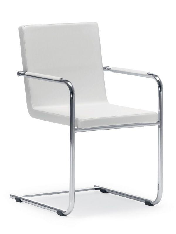 h5 l stuhl midj aus metall mit kufengestell aus leder kunstleder oder stoff bezogen. Black Bedroom Furniture Sets. Home Design Ideas