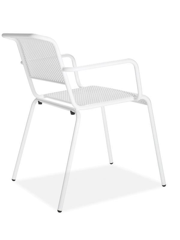 Nassa p metallstuhl in verschiedenen farben mit armlehnen auch f r den au enbereich sediarreda - Stuhle stapelbar gepolstert ...