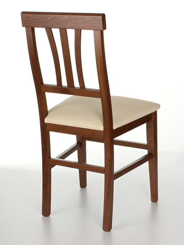 Mu47 chaise rustique en bois diff rentes teintes - Chaise en cuir beige ...
