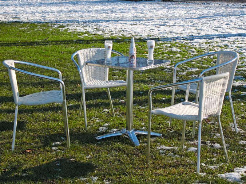 Tavolo 4 table pour ext rieur 4 pieds en inox plateau 70 - Plateau pour table exterieur ...