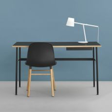 Journal - Normann Copenhagen metal writing desk, laminate top, different colours available, with drawer