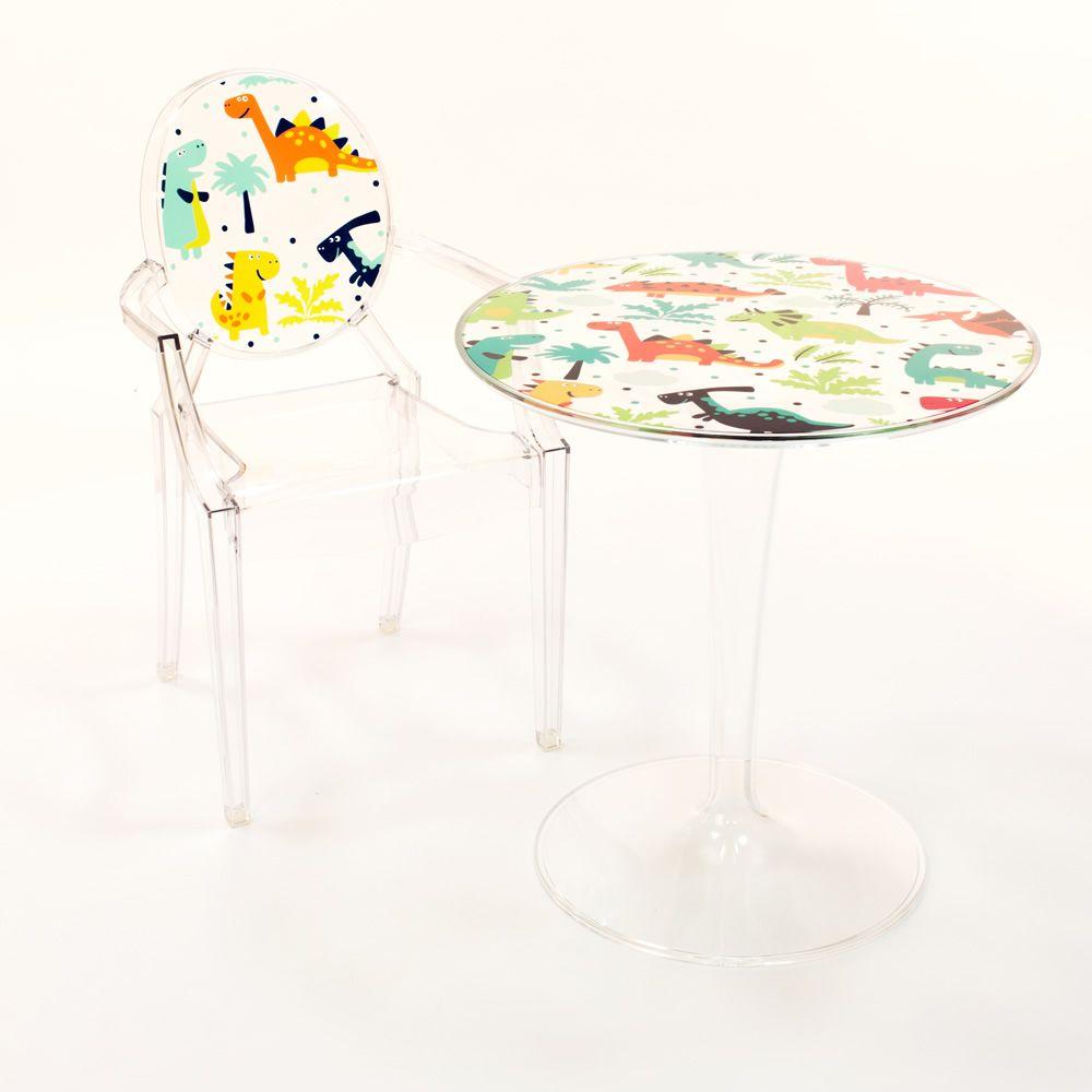 lou lou kids chaise kartell design pour enfants en polycarbonate transparent ou color. Black Bedroom Furniture Sets. Home Design Ideas