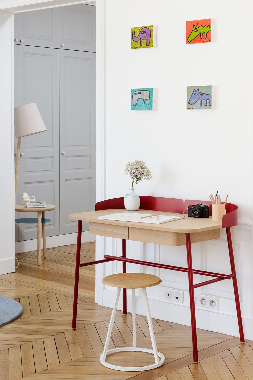 Victor designer schreibtisch aus metall und holz mit for Schreibtisch mit aufsatz holz