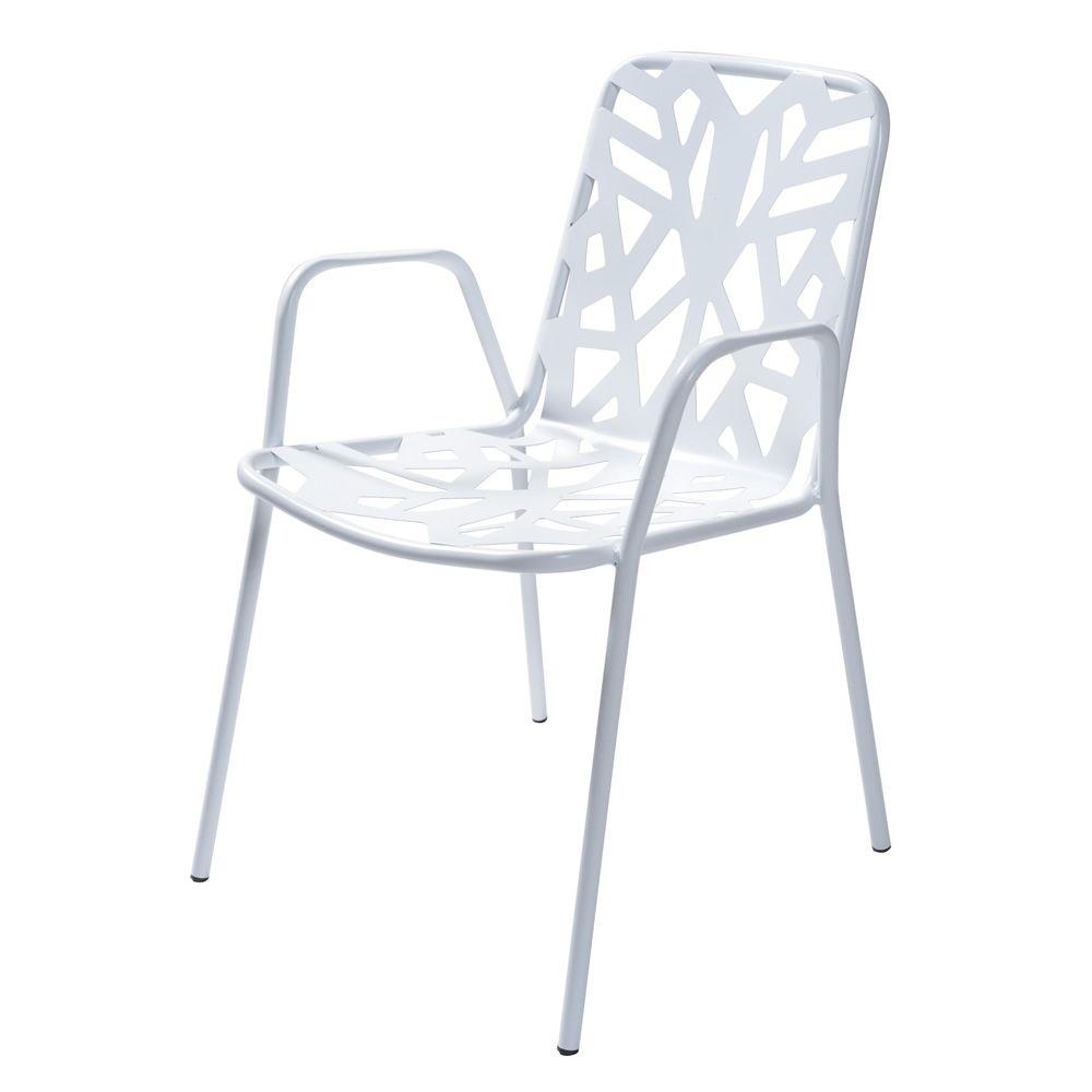 Rig71p silla met lica con reposabrazos apilable en - Silla metalica apilable ...